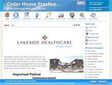 Tablet Preview of cedarhousesurgery.net